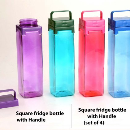 Personalized Square Fridge Bottle With Handle