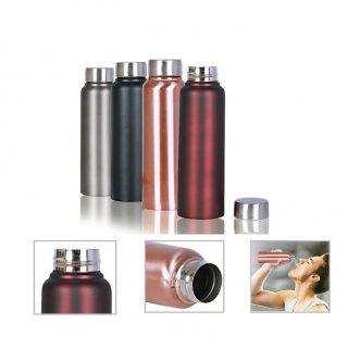 Personalized Stainless Steel - Bottle (500Ml) (A Q U A - Sleek) / Gray, Red Wine, Black