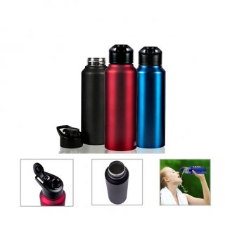 Personalized Stainless Steel Sports Bottle - 750Ml (Bpa Free) (J O T T E R S - Sigma) / Red, Blue, Black, White