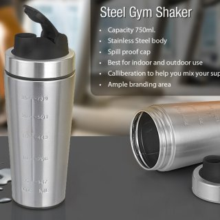 Personalized Steel Gym Shaker (750 Ml)