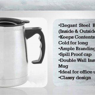 Personalized Steel Mug (480 Ml)
