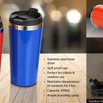 Personalized Straight Steel Mug (450 Ml)