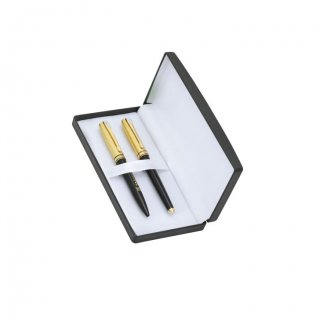 Personalized Tag Heuer Black/Golden Pen Set With Box