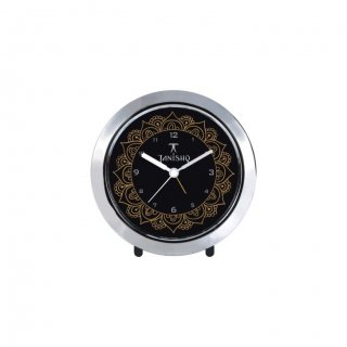 """Personalized Tanishq Chrome Plated Table Clock (4"""" Dia)"""