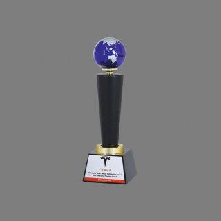 Personalized Tesla Award Trophy