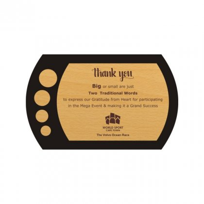 "Personalized Thank You Engraving Area Memento (5""X3.5"")"