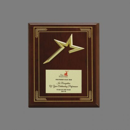 Personalized The Heart Fort Award Star Trophy
