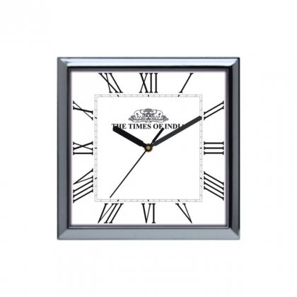"Personalized The Times Of India Wall Clock (10.5""X10.5"")"