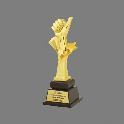 Personalized Total Reward Intervention(Thumbsup) Trophy