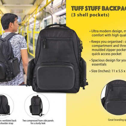 Personalized Tuff Stuff Backpack (3 Shell Pockets)