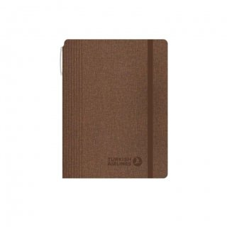 Personalized Turkish Airlines A5 Notebook (Brown Color)