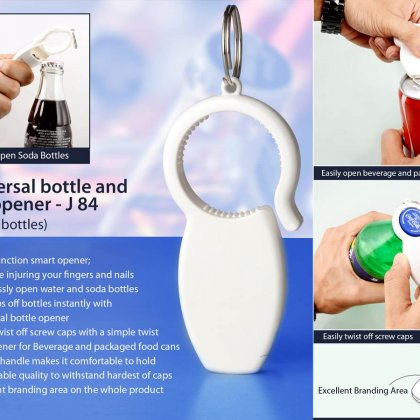 Personalized universal bottle and can opener: for all bottles