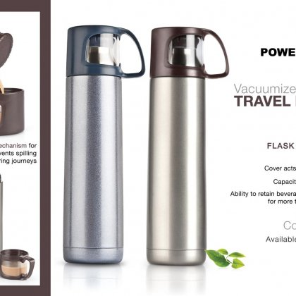 Personalized vacuumized travel flask (700 ml approx)