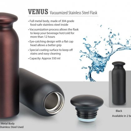 Personalized Venus Vacuumized Stainless Steel Flask (550 Ml Approx)