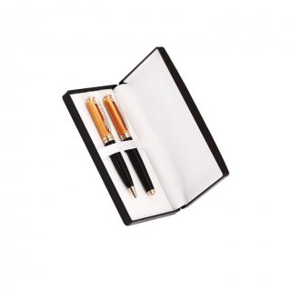 Personalized Vistara Copper/Black Pen Set With Box