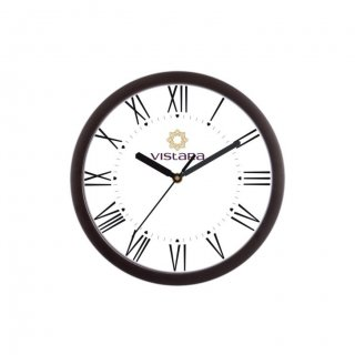 "Personalized Vistara Wall Clock (9"" Dia)"