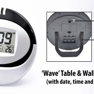 Personalized wave table cum wall clock