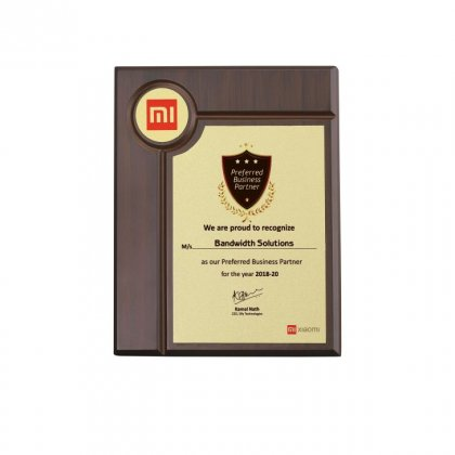 Personalized Xiomi Mi Award Memento