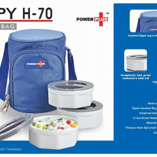 Personalized zippy lunch bag- 3 containers (plastic)