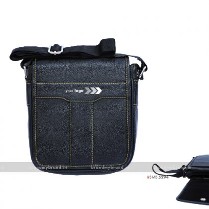 Personalized Black Box Sling Bag