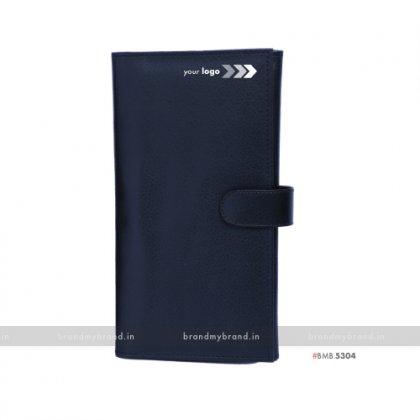Personalized Black Passport & Cards Holder