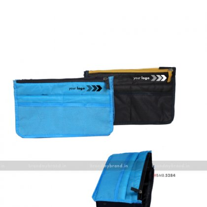 Personalized Blue Travel Utility Pouch