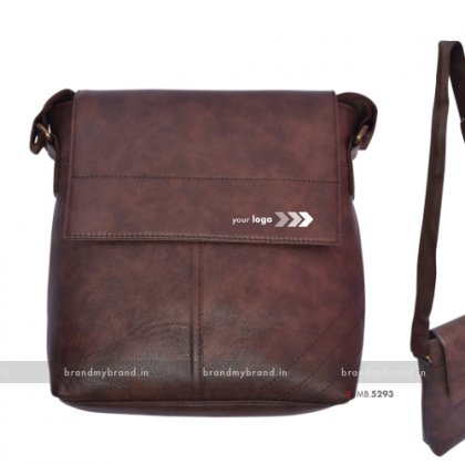 Personalized Brown Mini Sling Bag