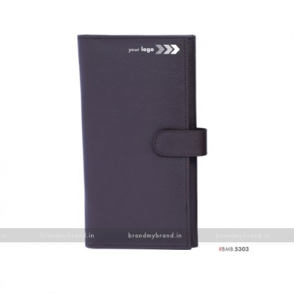 Personalized Brown Passport & Cards Holder