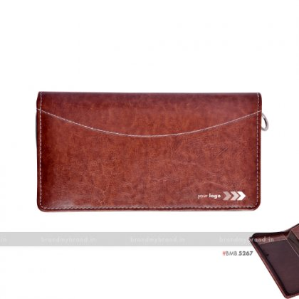Personalized Currency, Tickets, Passport & Cards Holder with Zipper