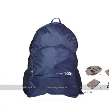 Personalized Folding Bagpack Blue