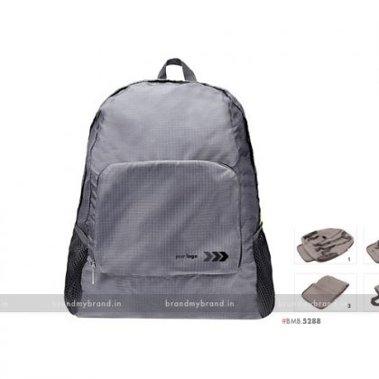 Personalized Folding Bagpack Gray