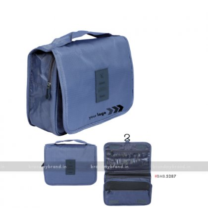 Personalized Gray Travel Bag