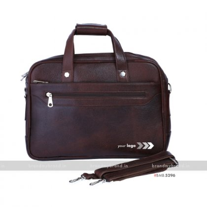Personalized NDM Tan Portfolio Bag