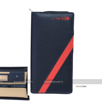 Personalized Red Stripe Chequebook Holder