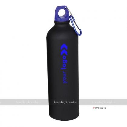 Personalized Black Matt Blue Cap Sports Bottle 750ml
