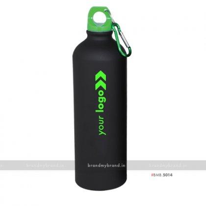 Personalized Black Matt Green Cap Sports Bottle 750ml