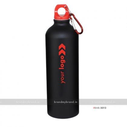 Personalized Black Matt Red Cap Sports Bottle 750ml