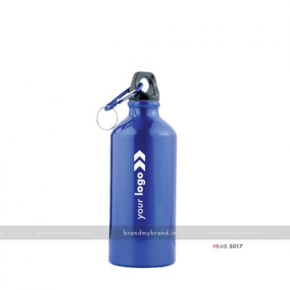 Personalized Blue Gloss Sports Bottle 500ml