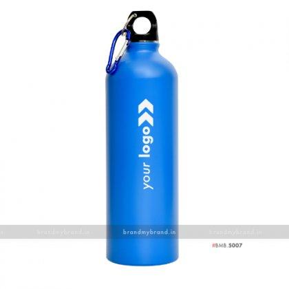 Personalized Blue Matt Sports Bottle 750ml
