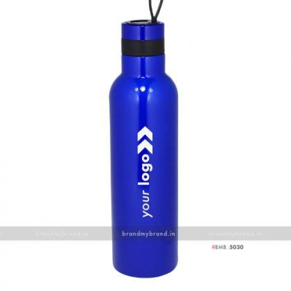 Personalized Blue Steel Bottle 1000ml