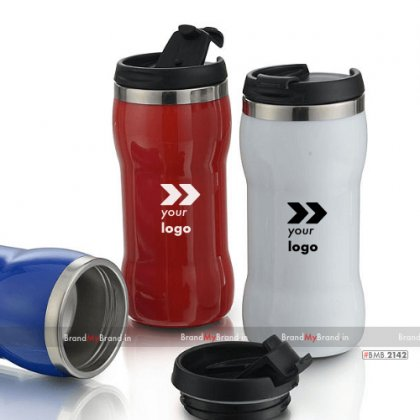 Personalized blue/white/red dumbell sipper (300 ml)