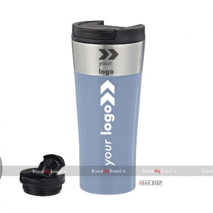 Personalized crest-double wall stainless steel mug (400 ml)