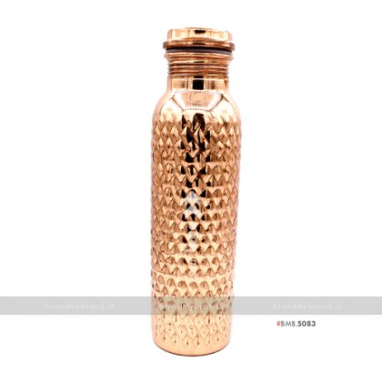 Personalized Diamond Edge Copper Bottle