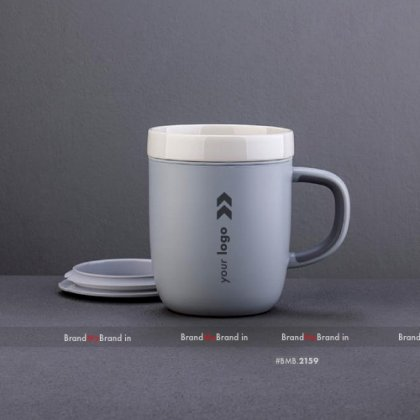 Personalized grey suction mug-sky (260 ml)