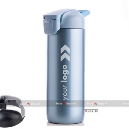 Personalized light blue suction bottle-guardian