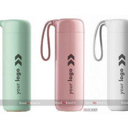 Personalized light-pink/light cyan/white cloud suction bottle (400 ml)