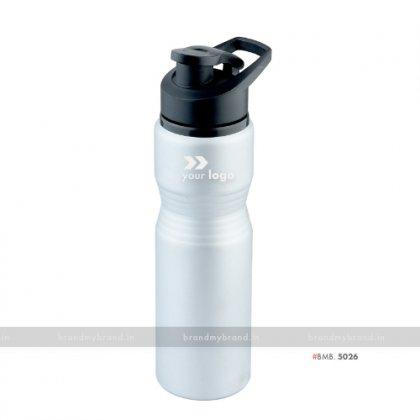 Personalized Silver Matt Curve Alluminium Regular Bottle