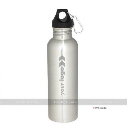 Personalized Silver Steel Carabiner Bottle 800ml