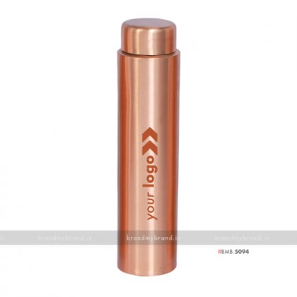Personalized Sleek Copper Bottle