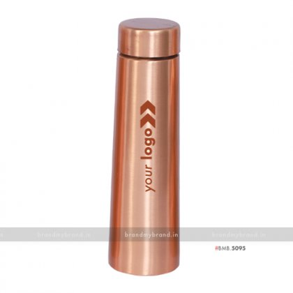 Personalized Slim Copper Bottle